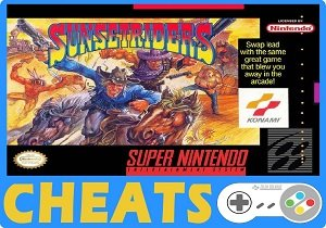 Sunset Riders Cheats and Codes for Super Nintendo