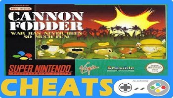 cannon fodder snes cheats