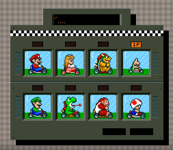 super mario kart snes small racers