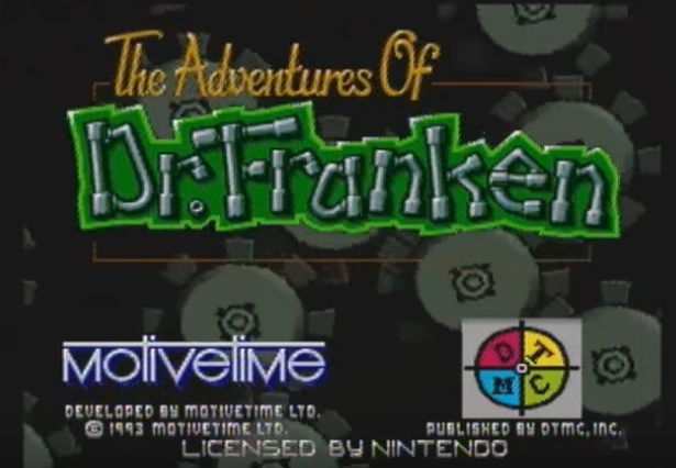 Adventures of Dr. Franken Title Screen