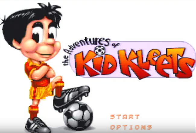 Adventures of Kid Kleets Title Menu
