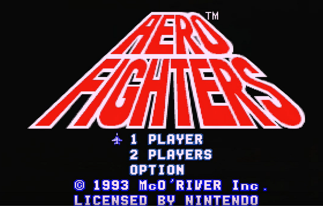 Aero Fighters Title Screen