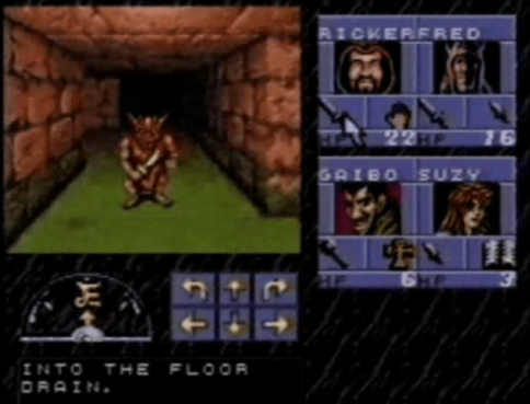 Eye of the Beholder snes gameplay