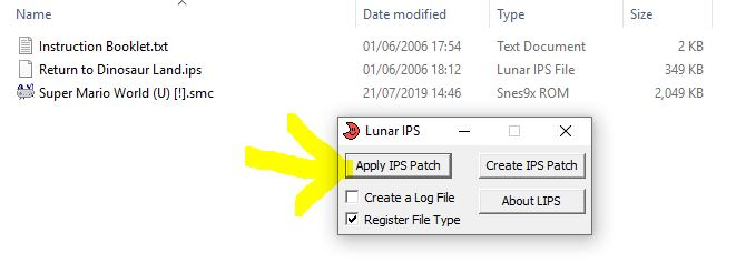 apply lunar ips patch