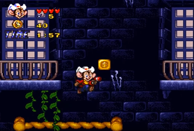 An American Tail Fievel Goes West On The SNES