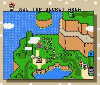 super mario world top secret-area