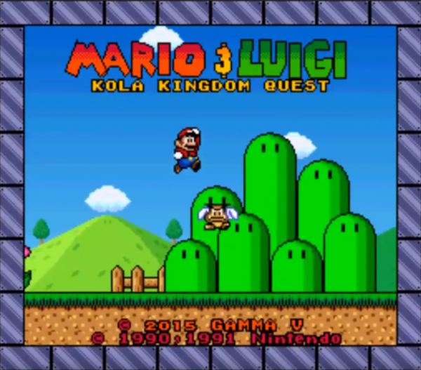 Mario & Luigi Kola Kingdom Quest SNES