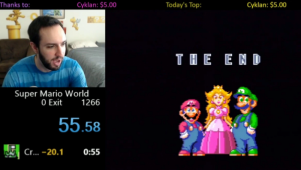 super mario world snes world record