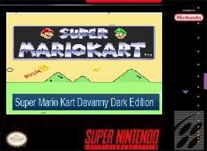 Super Mario Kart Devanny Dark Edition SNES ROM Hack