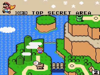 super mario world top secret area