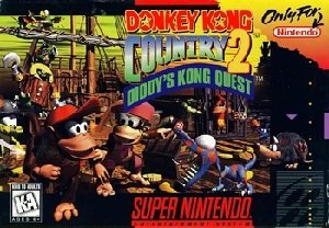 Donkey Kong Country 2 Diddy's Kong Quest SNES Game