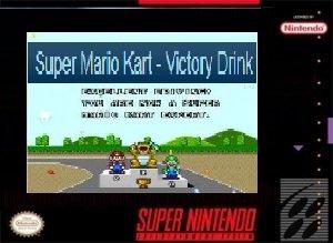 Super Mario Kart victory drink SNES ROM Hack