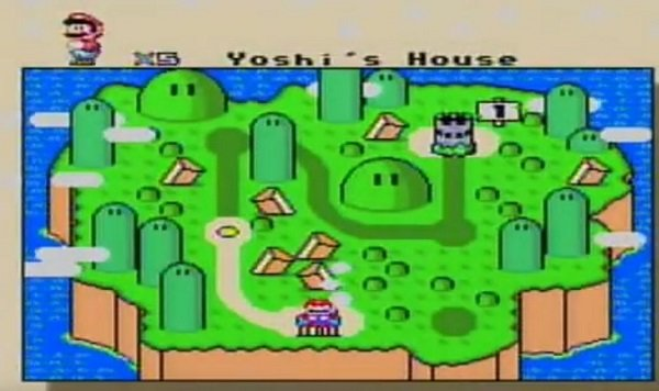 SMW Return To Dinosaur Land map
