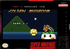 Mario Rescues the Golden Mushroom snes rom hack