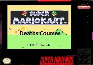 Super Mario Kart Death's Courses SNES Rom Hack
