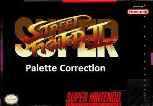 Super Street Fighter II Palette Correction (SNES) Rom Hack