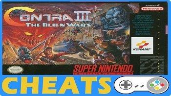 Contra III : The Alien Wars (SNES) Pro Action Replay Codes