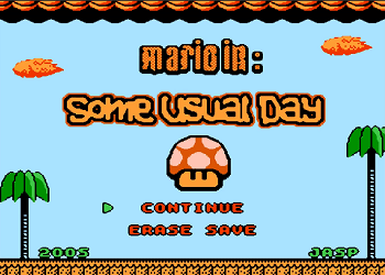 Mario In Some Usual Day : NES ROM Hack [Download]