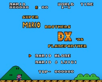 Super Mario Bros DX NES Rom Hack