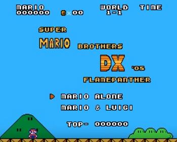 Super Mario Bros DX NES Rom Hack