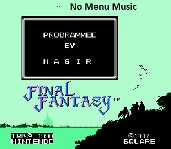 Final-Fantasy-No-Menu-Music-Nes-Rom-Hack