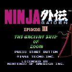 Ninja Gaiden III The Ancient Ship of Doom Restored