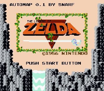 The Legend of Zelda Automap Plus nes rom hack