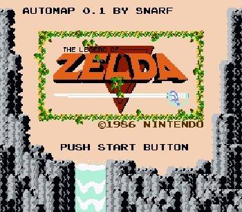 The Legend of Zelda Automap Plus nes rom hack